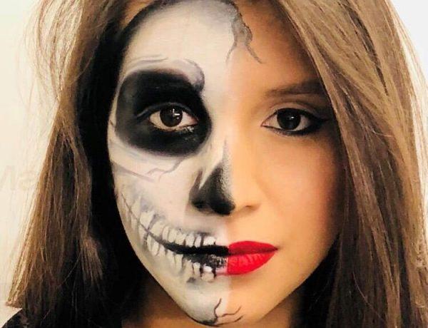trucco halloween scheletro